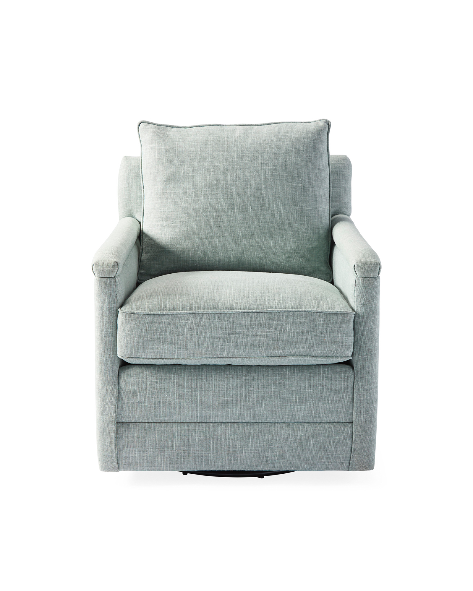 Spruce Street Swivel Chair - Seaglass Washed Linen,