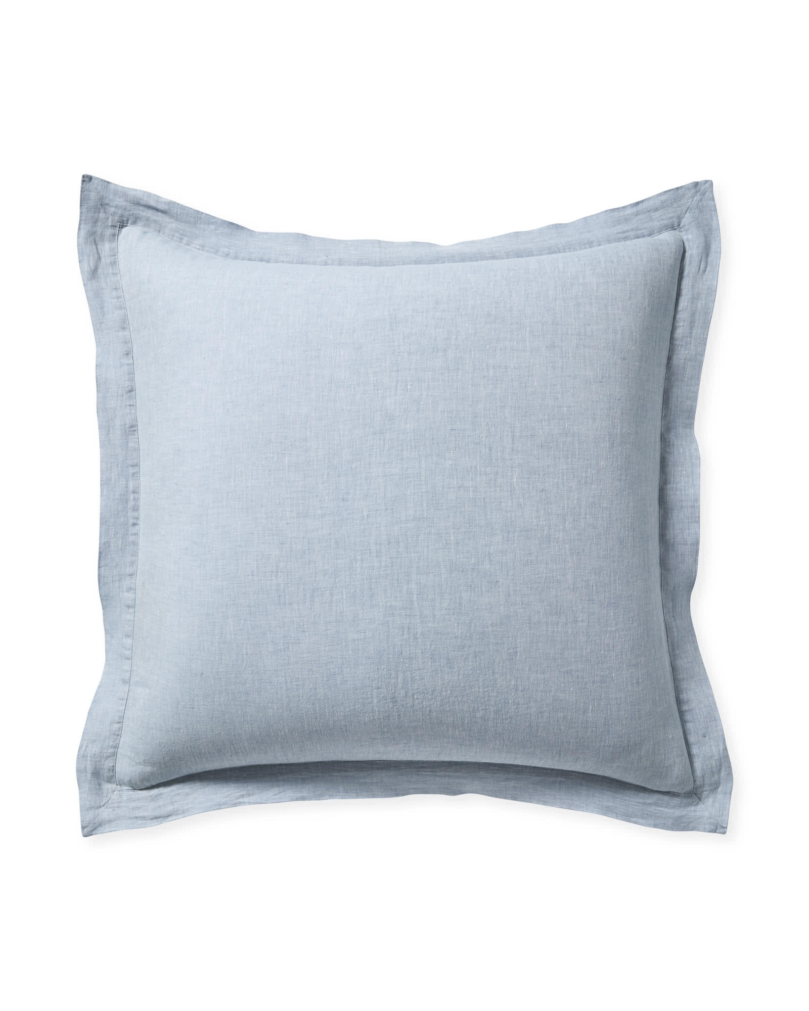 Cavallo Linen Shams, Blue Chambray