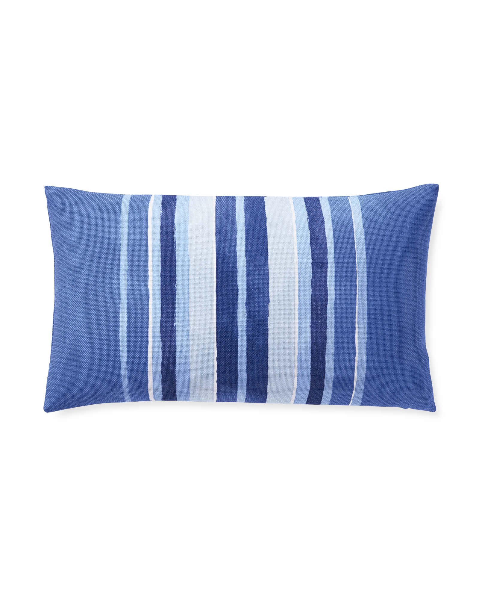 Sonoma Stripe Outdoor Pillow Cover, Blue