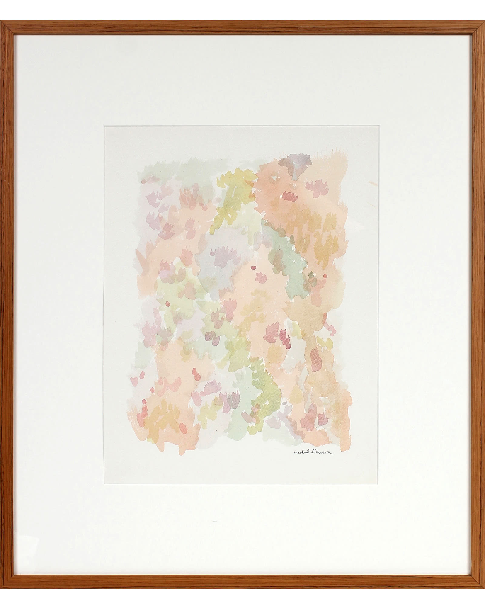 """""""Pale Minimal Abstract in Watercolor"""" by Michael L. Mason,"""
