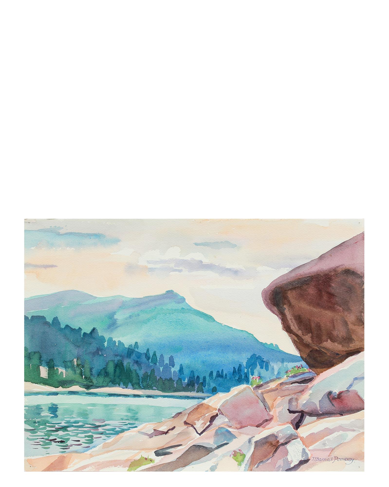 """Lake Alpine from West Shore"" by Mary Pomeroy,"