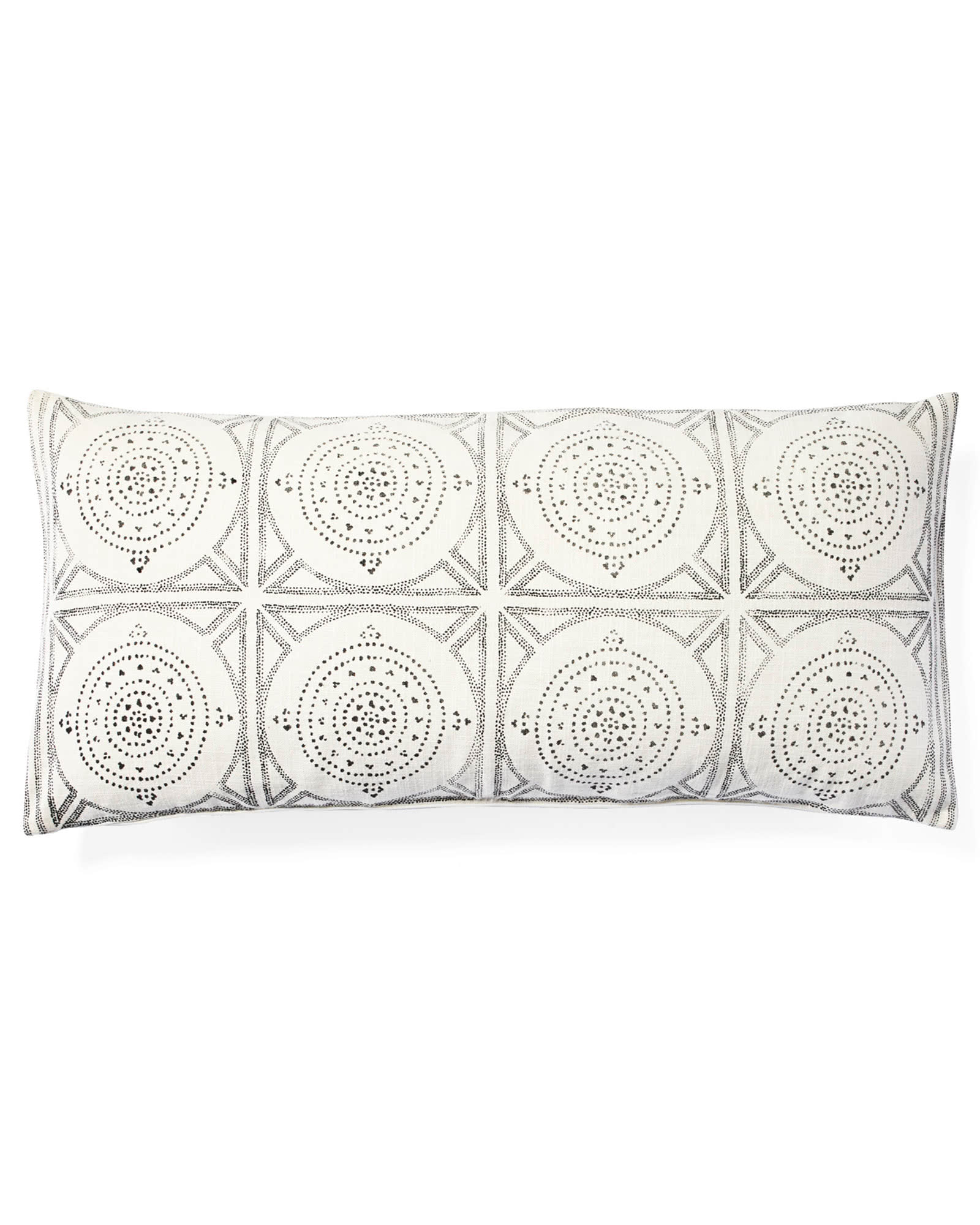 Camille Mosaic Lumbar Pillow Cover, Ivory