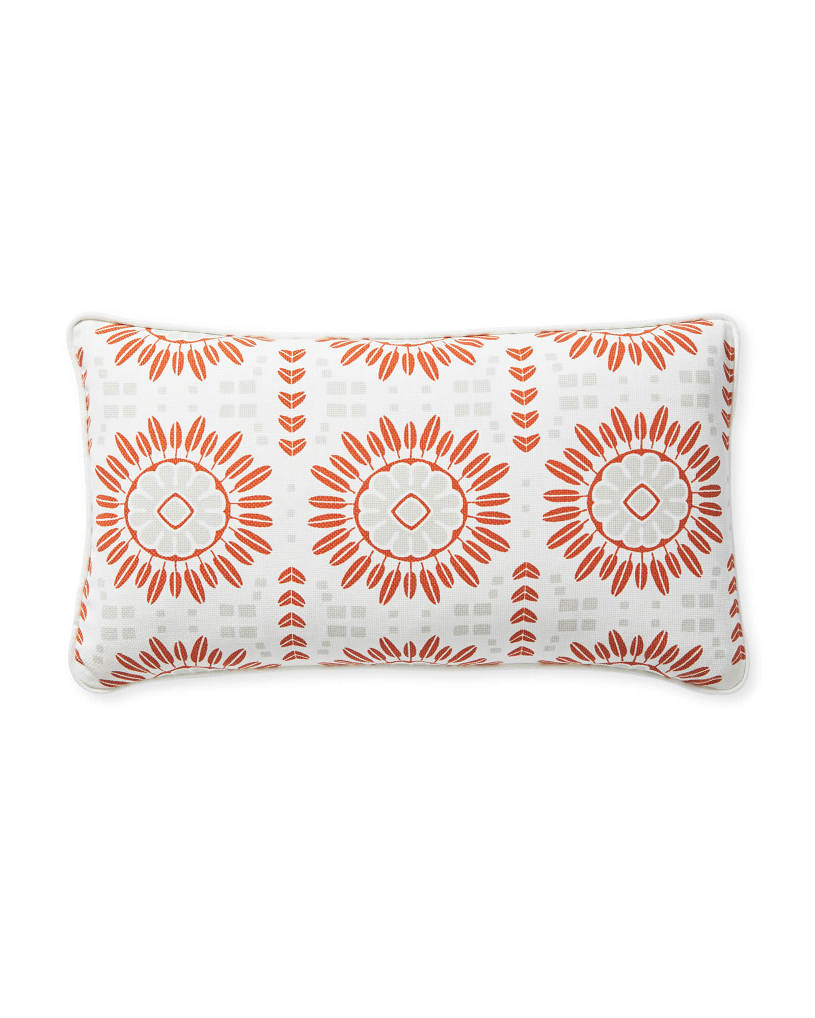 Campania Pillow Cover, Grey/Orange