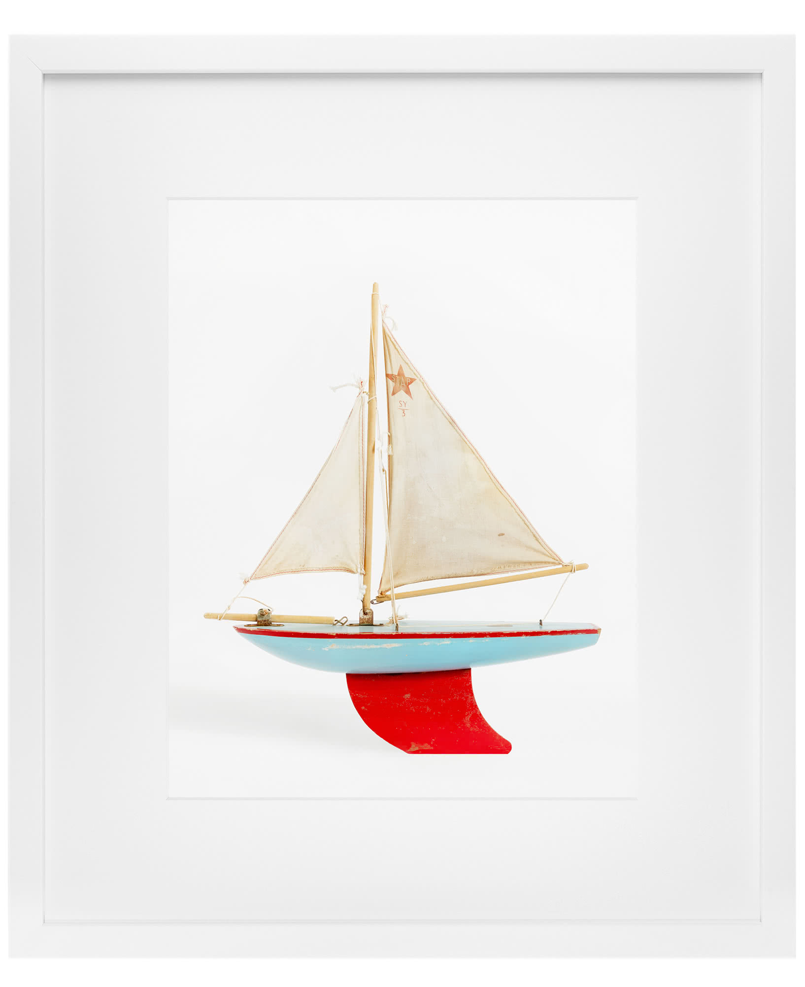 """Red and Blue Boat"" by Leslee Mitchell,"