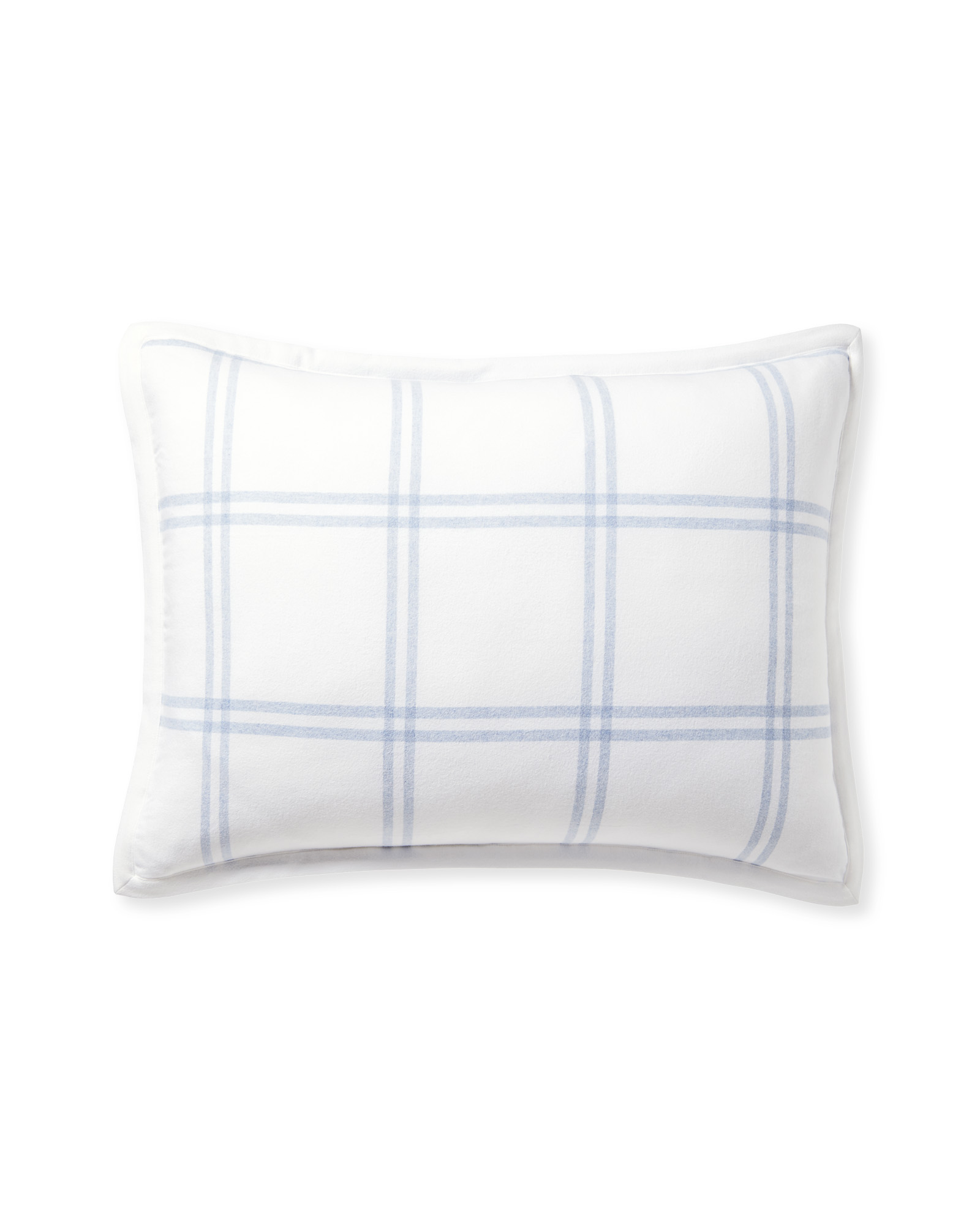 Alpine Flannel Shams, White/Chambray