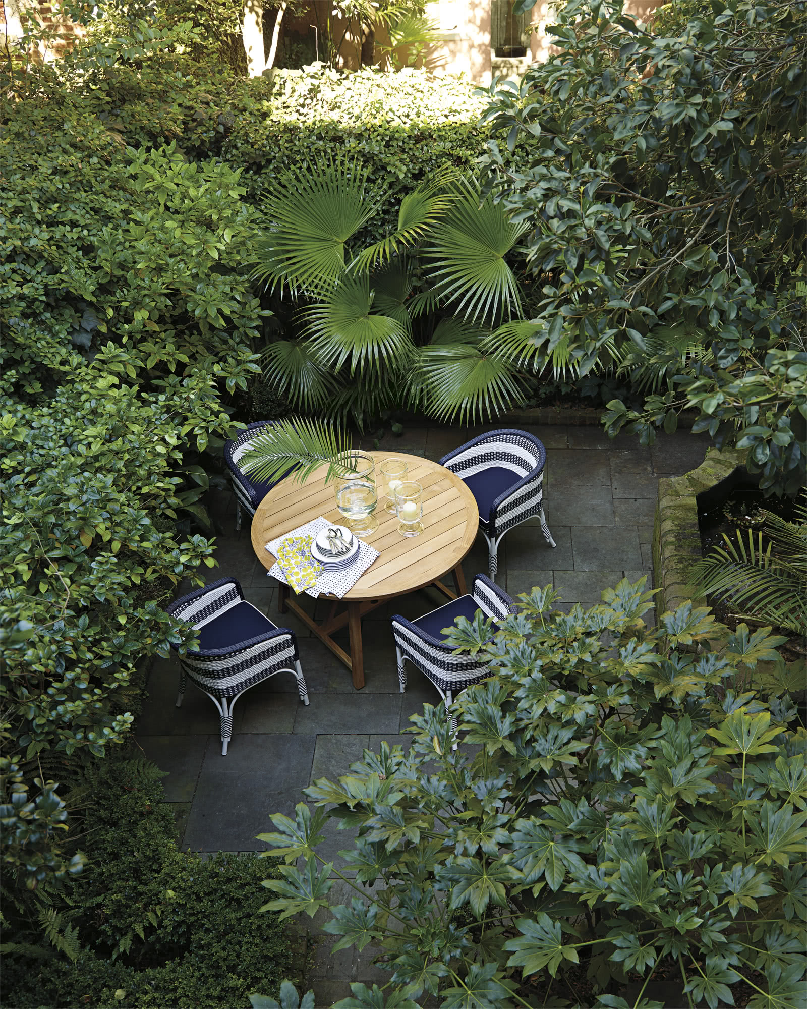 Crosby Teak Outdoor Round Dining Table
