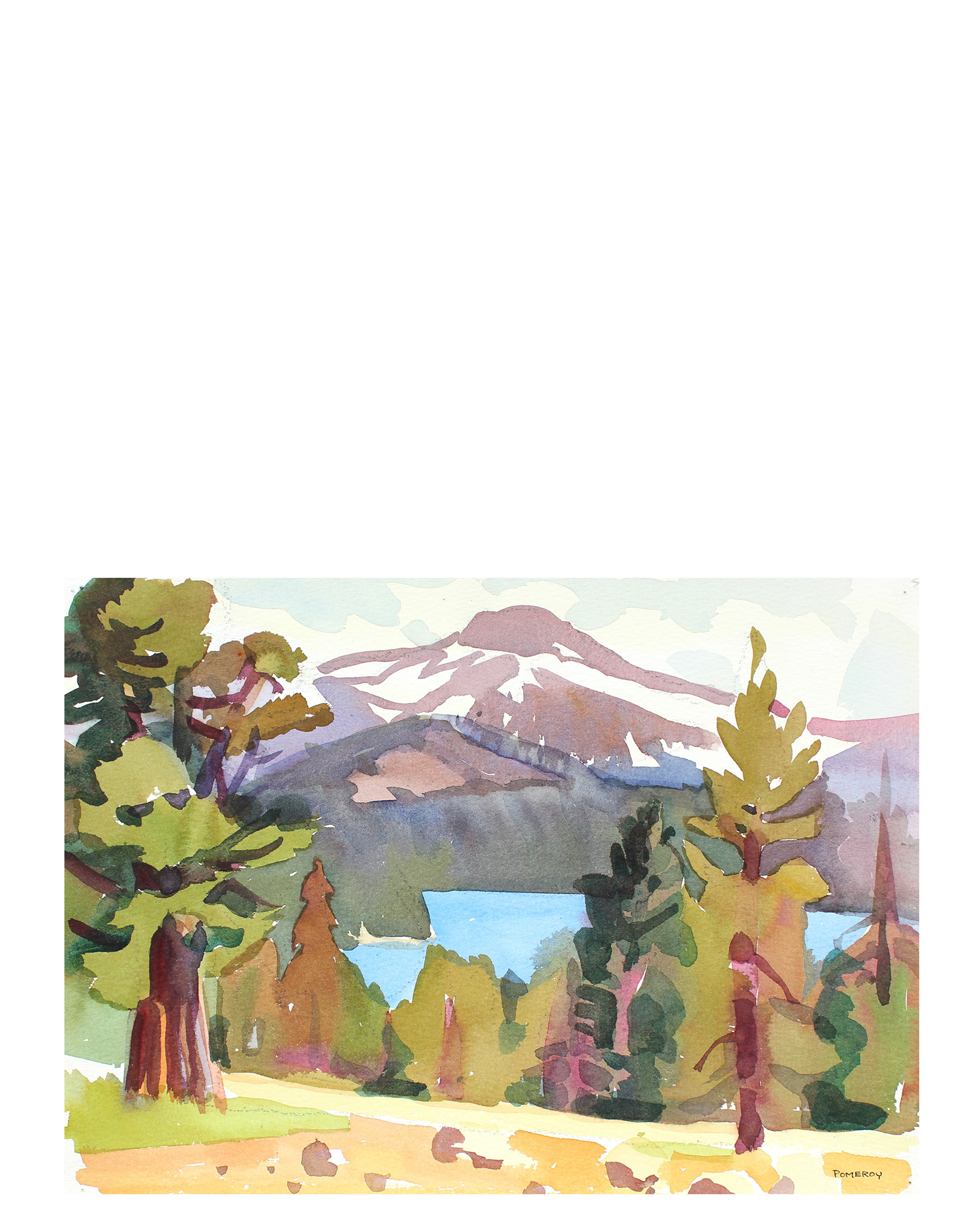 """Caples Lake"" by Frederick Pomeroy,"