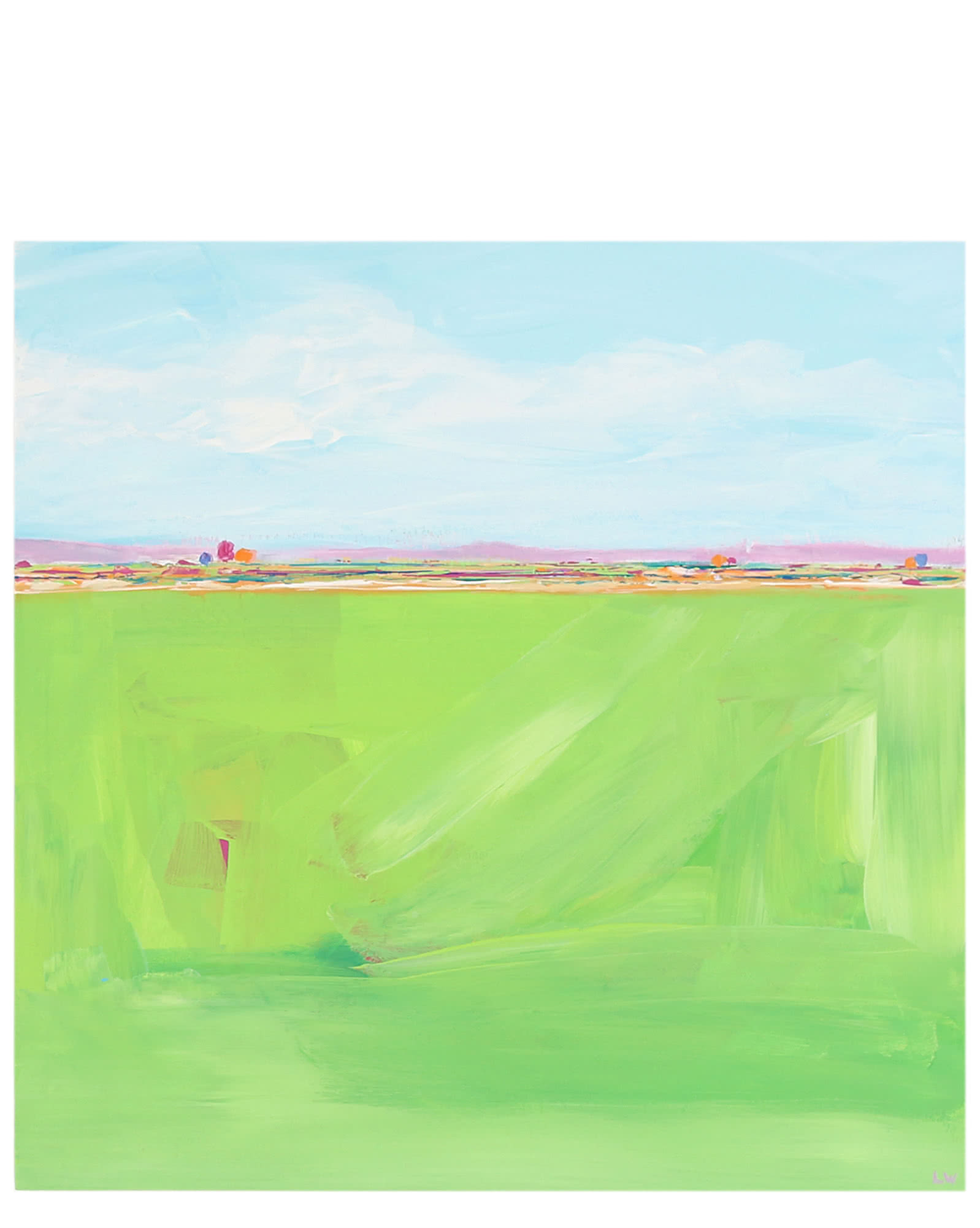 """""""Green Field"""" by Laurie Winthers,"""