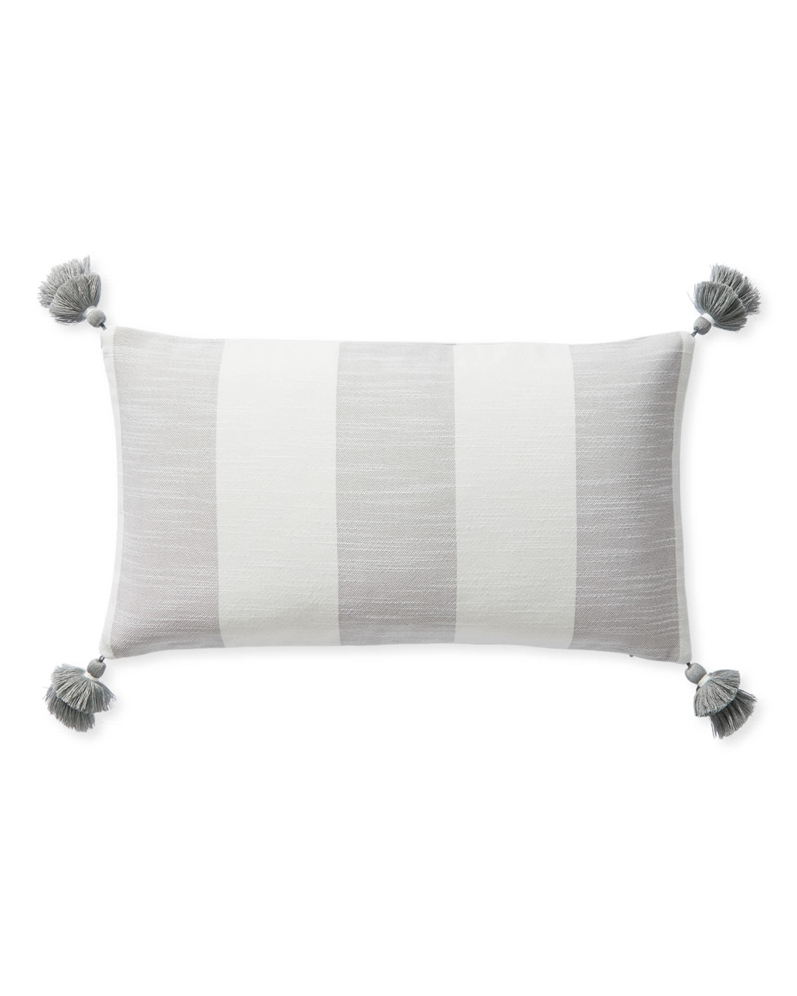 Beach Stripe Pillow Cover, Smoke