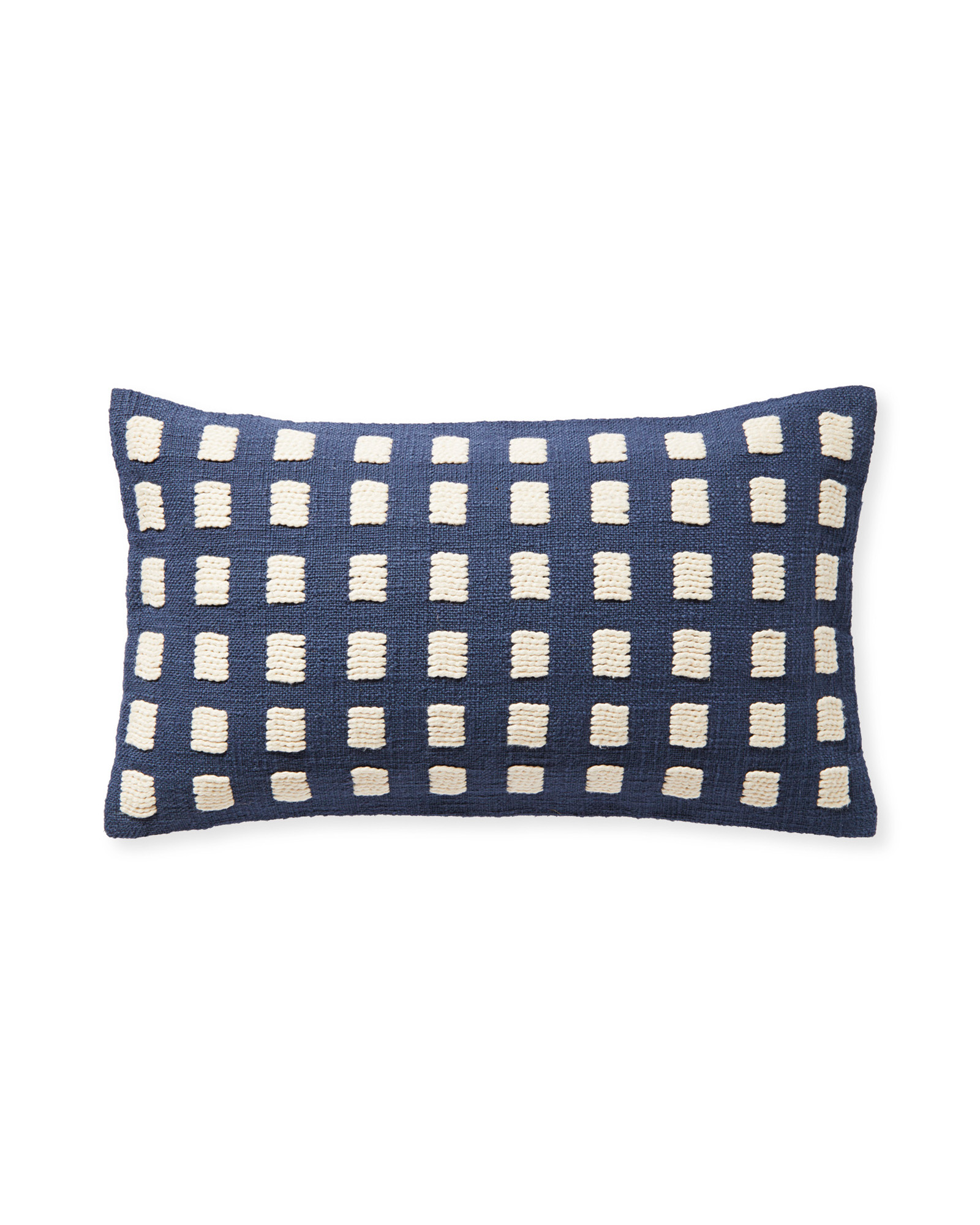 Pebble Cove Pillow Cover, Navy/Ivory