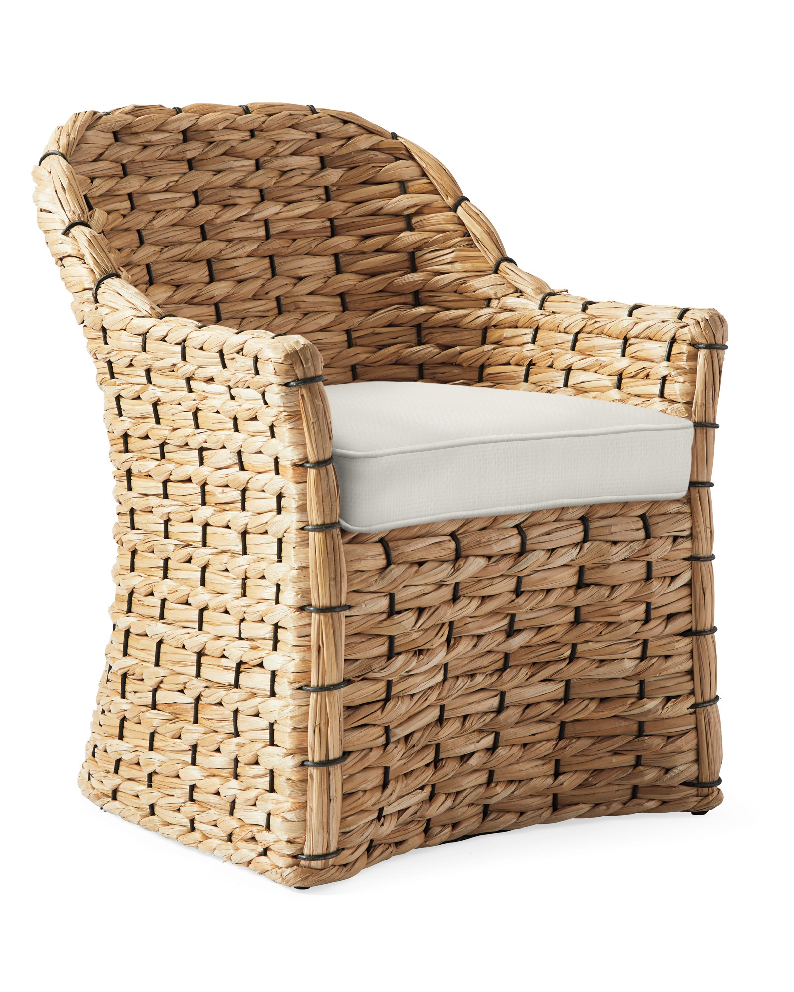Cushion Cover for Islesboro Chair, Perennials Basketweave Chalk