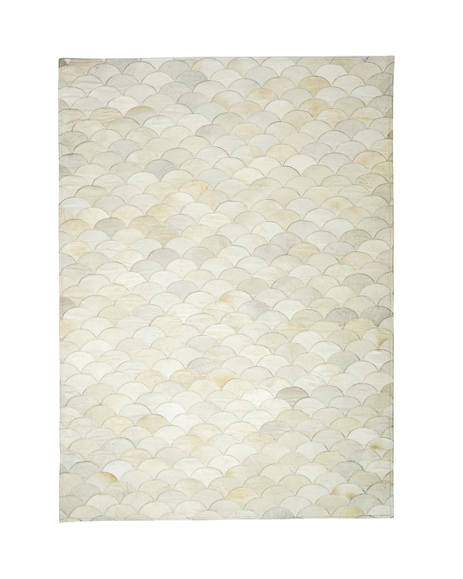 Scalloped Hide Rug,