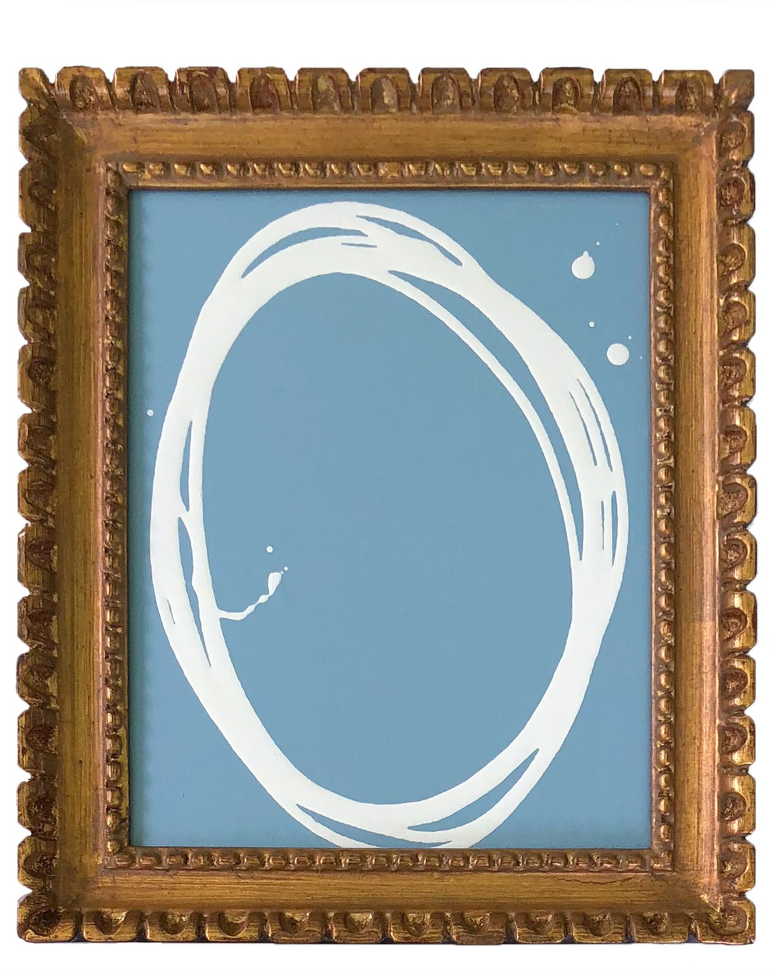 """Oval on Blue"" by Kayce Hughes,"