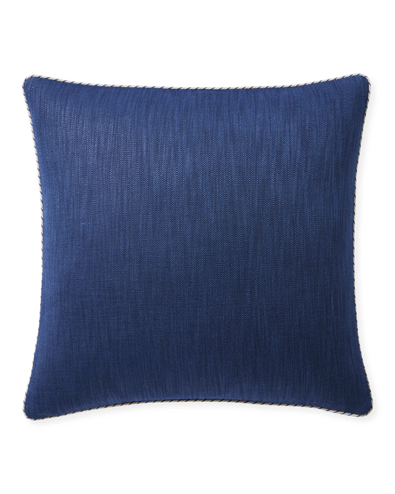 Perennials® Basketweave Outdoor Pillow Cover, Navy