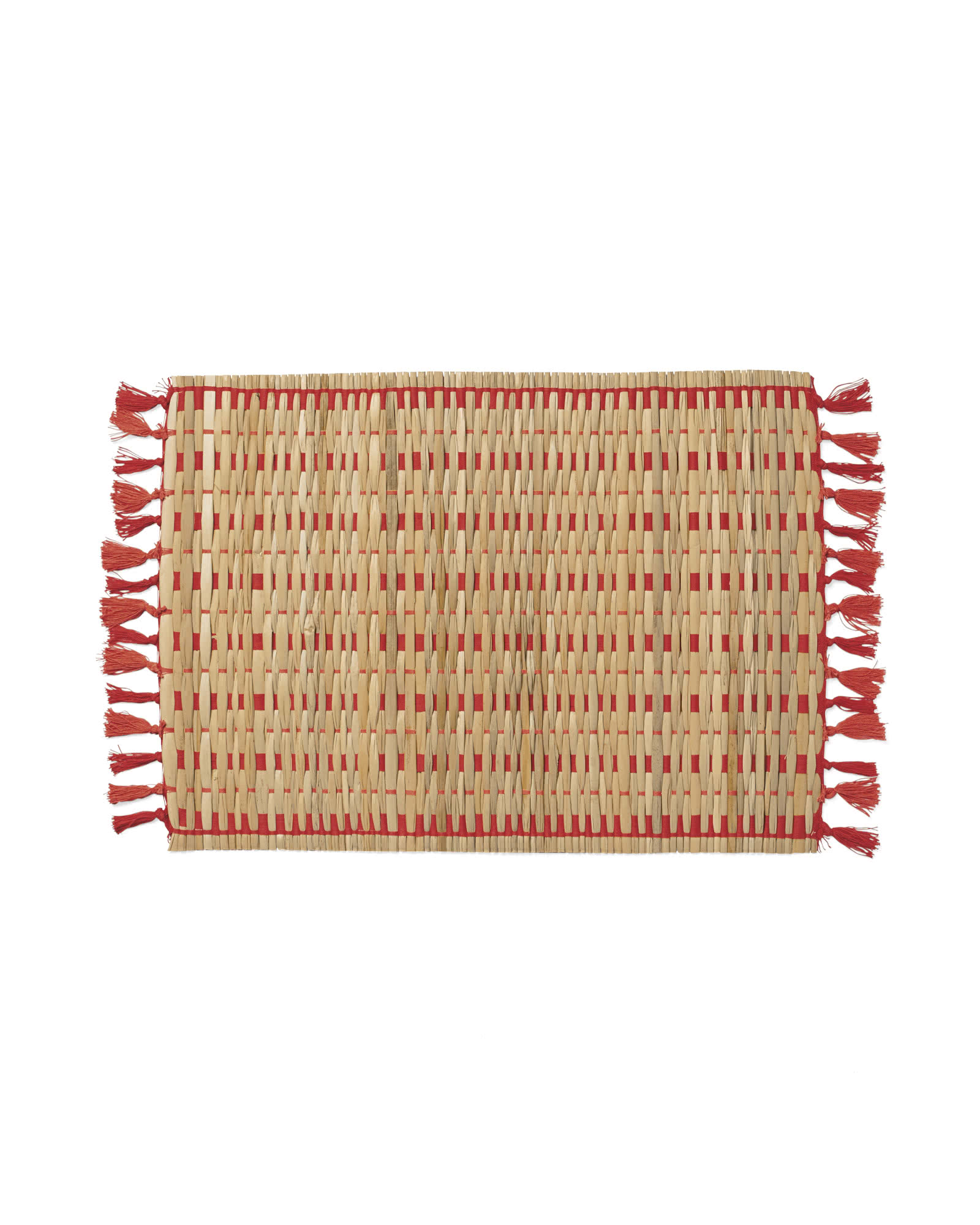 Cabo Woven Placemats (Set of 4), Coral