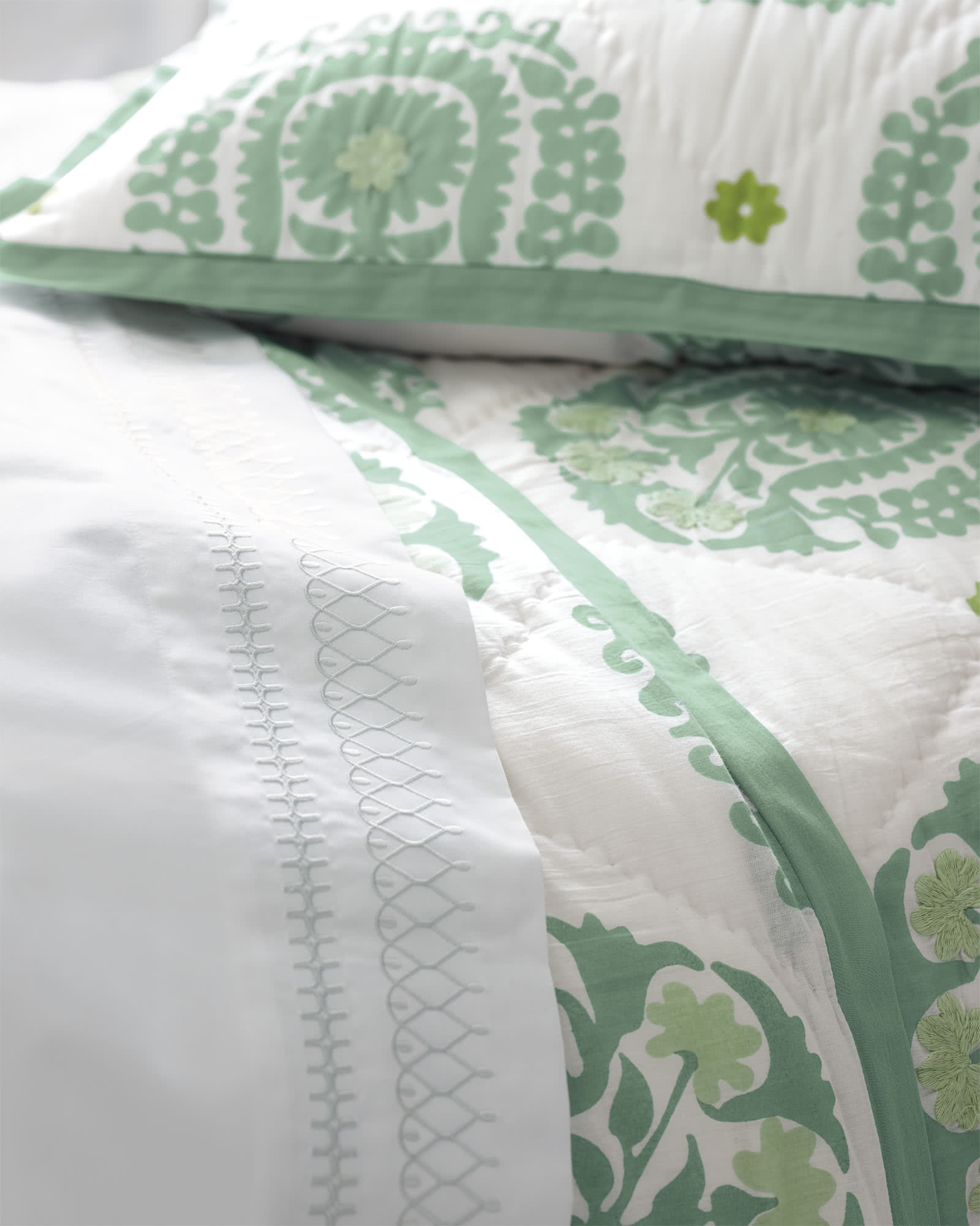 Suzani Quilted Shams,
