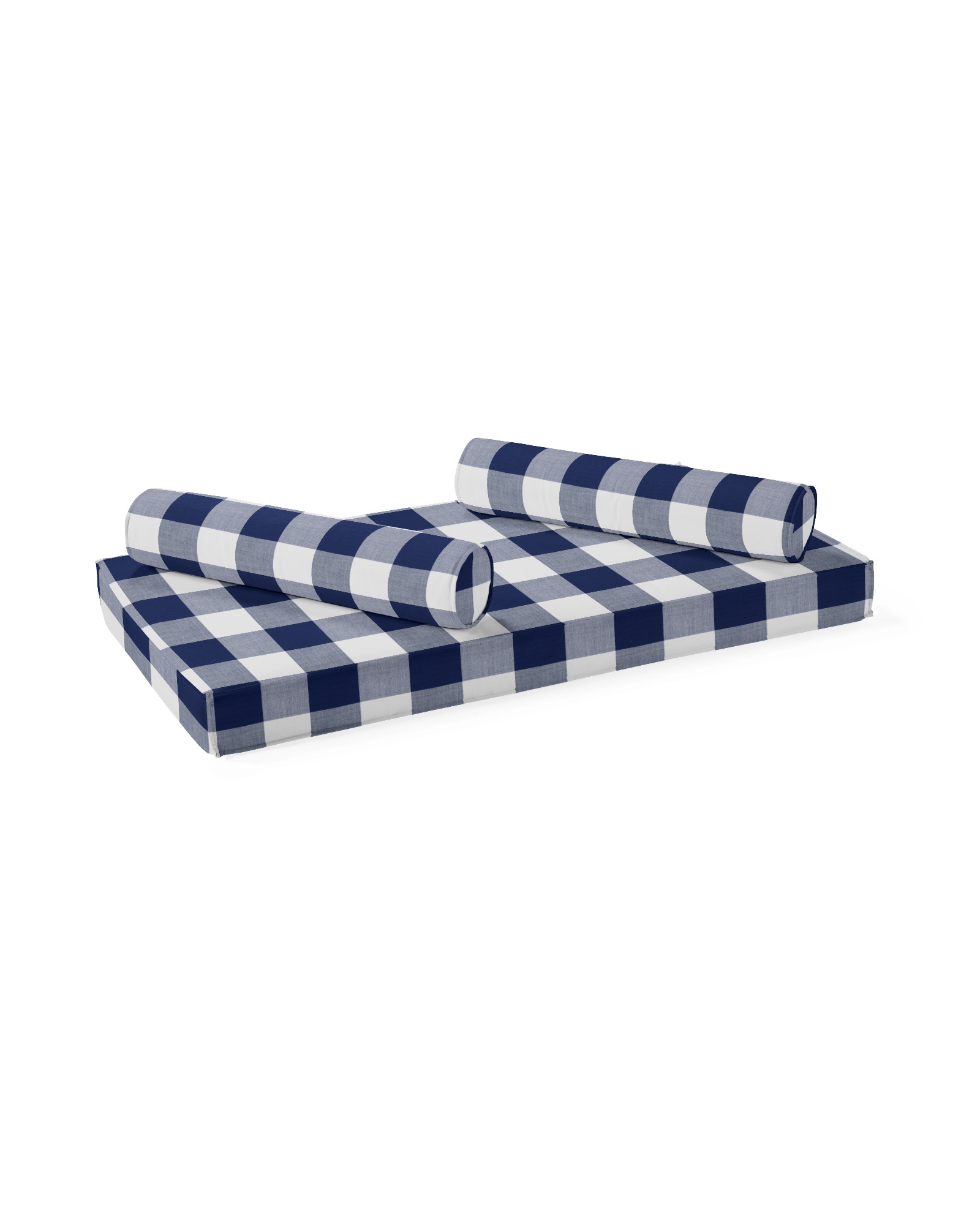 Daybed Mattress & Bolsters, Perennials Gingham Navy