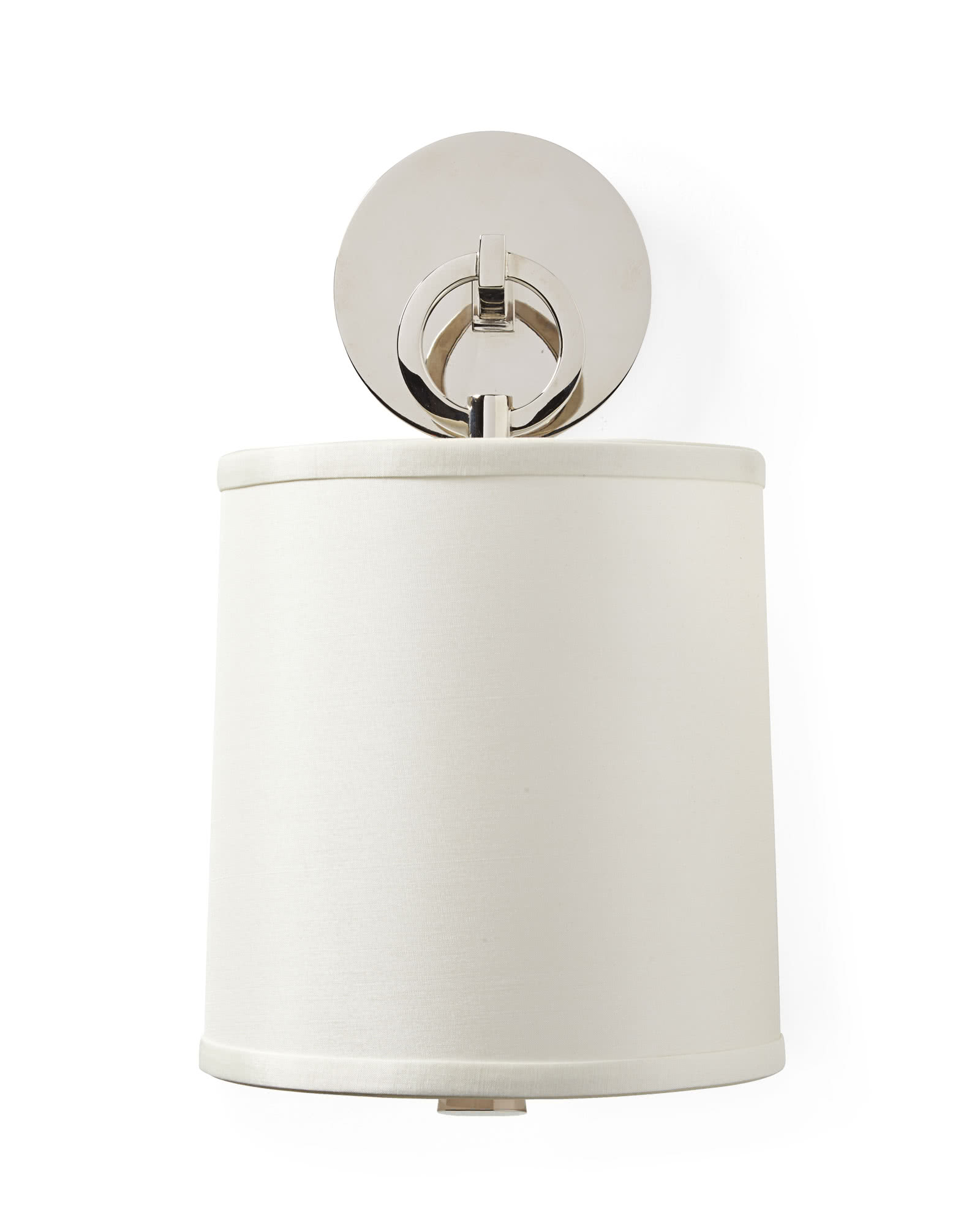 French Cuff Sconce, Polished Nickel