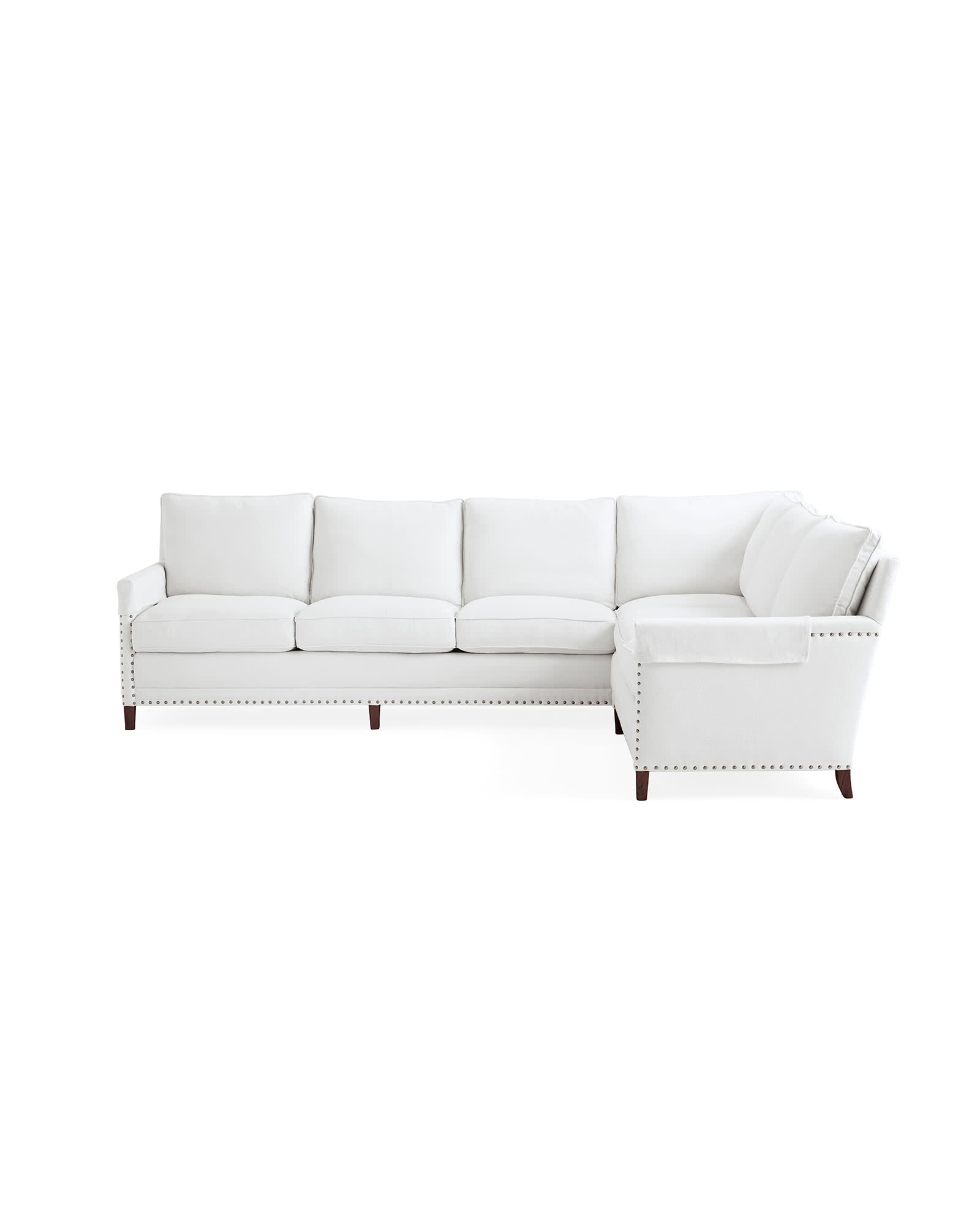 Spruce Street L-Sectional with Nailheads – Left-Facing,