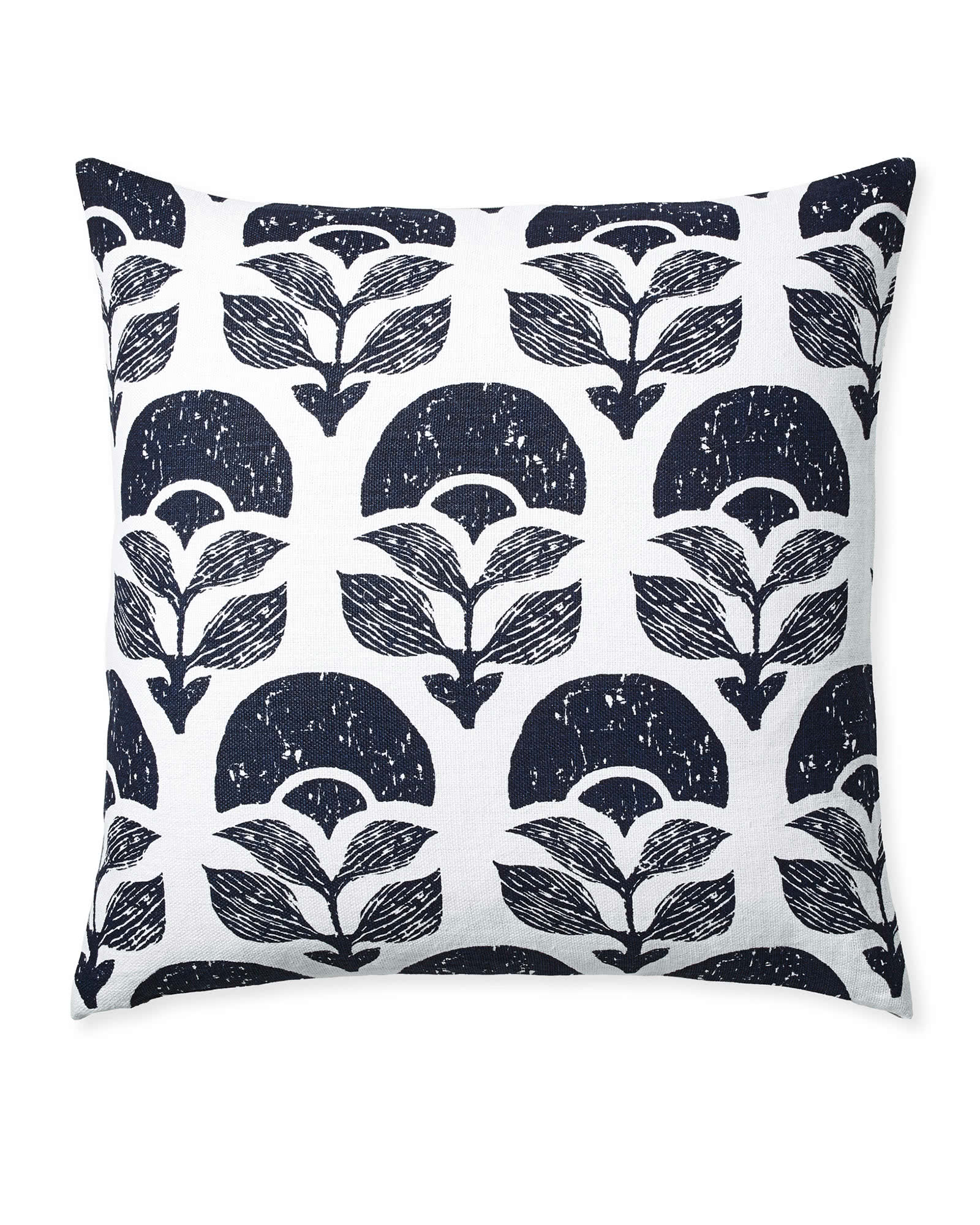 Larkspur Printed Pillow Cover, Midnight