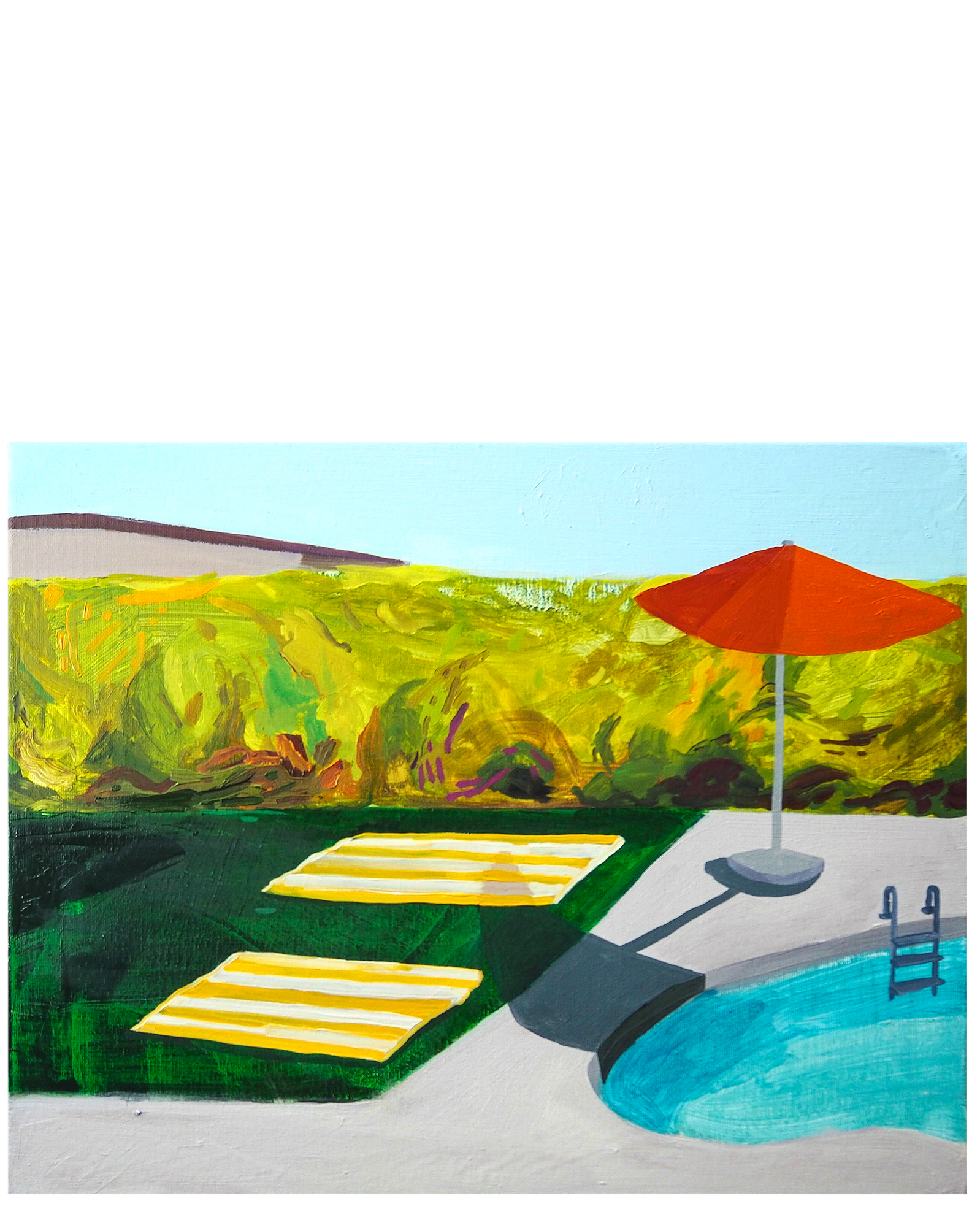 """""""Poolside Afternoon"""" by Claire Elliott,"""
