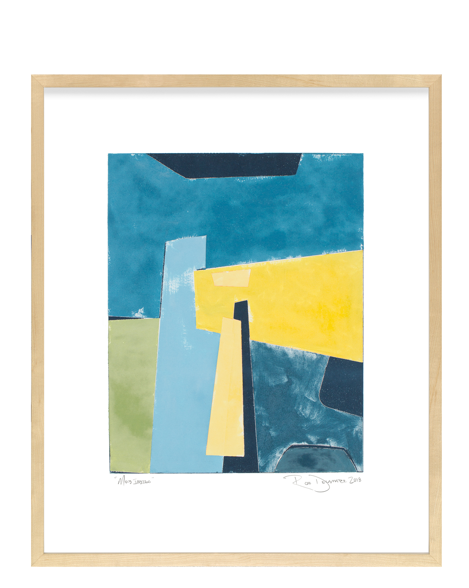 """Mood Indigo"" by Rob Delamater, Maple Frame"