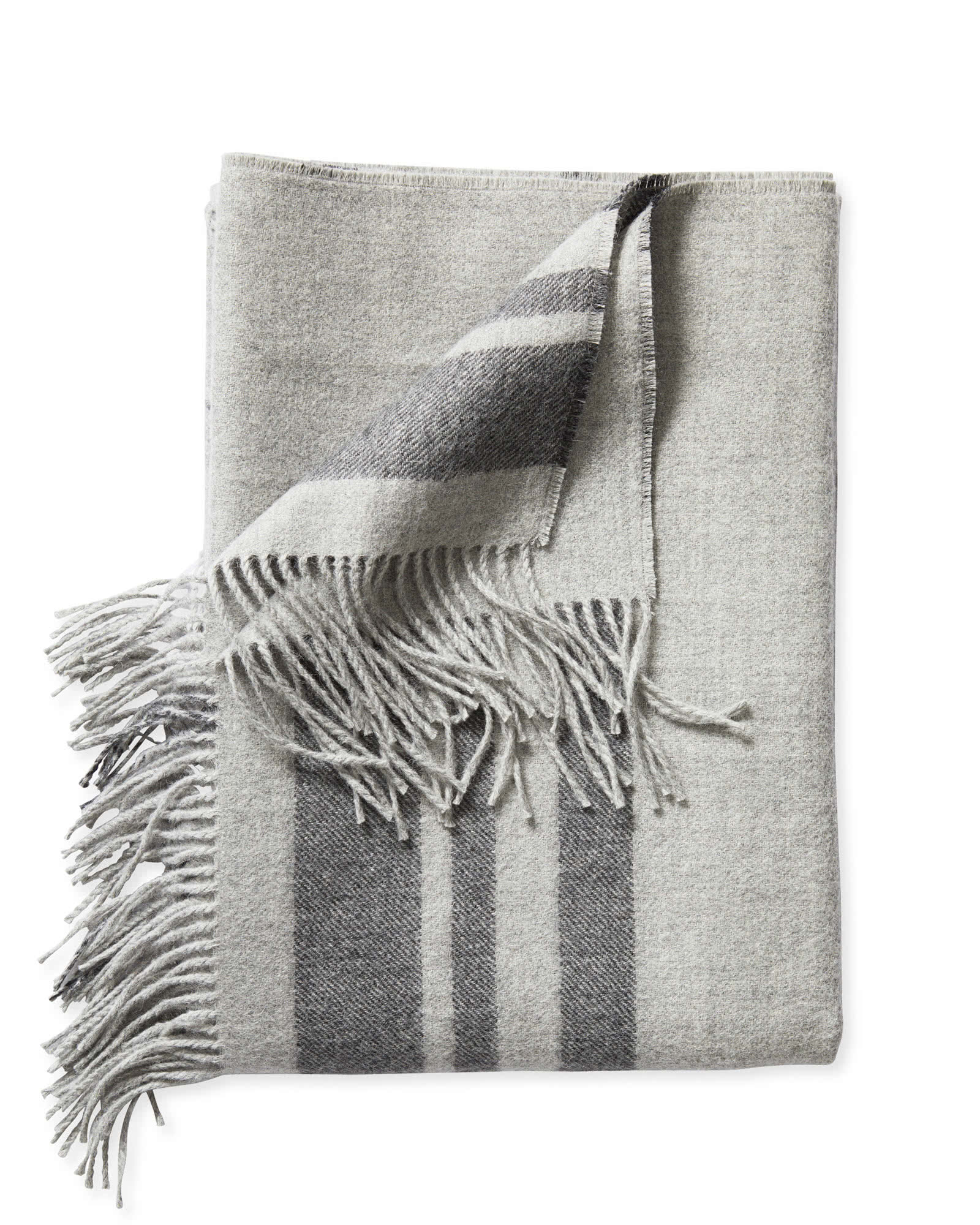 Avery Alpaca Throw, Fog
