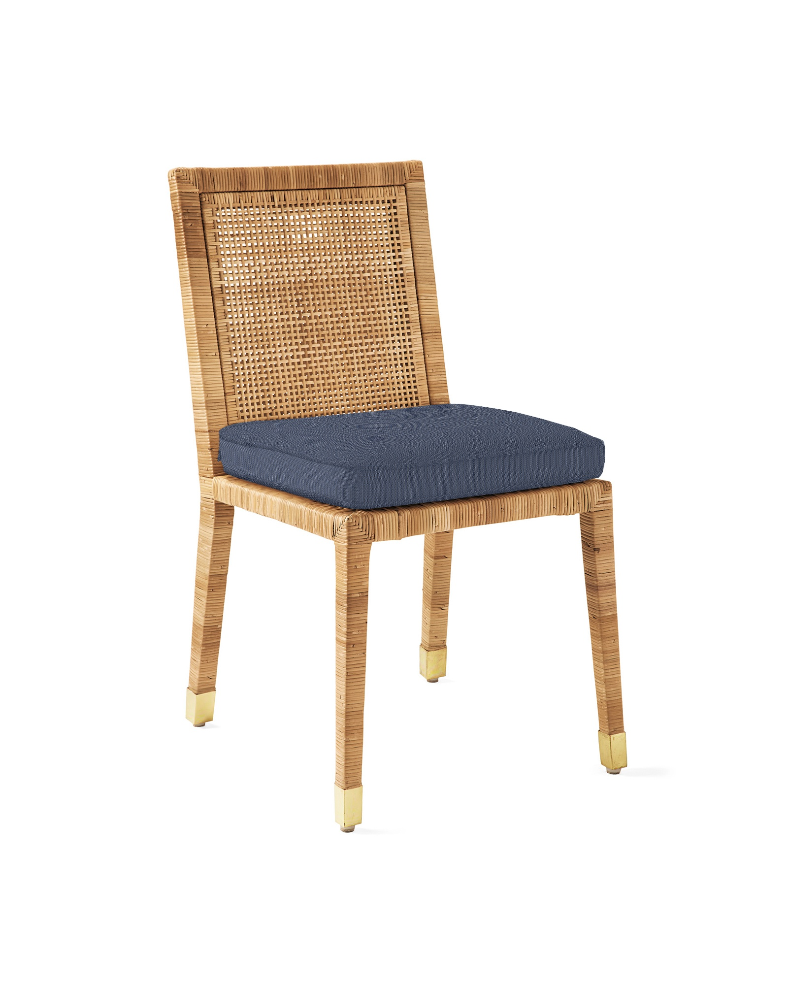 Cushion Cover for Balboa Side Chair - Natural, Perennials Basketweave Indigo