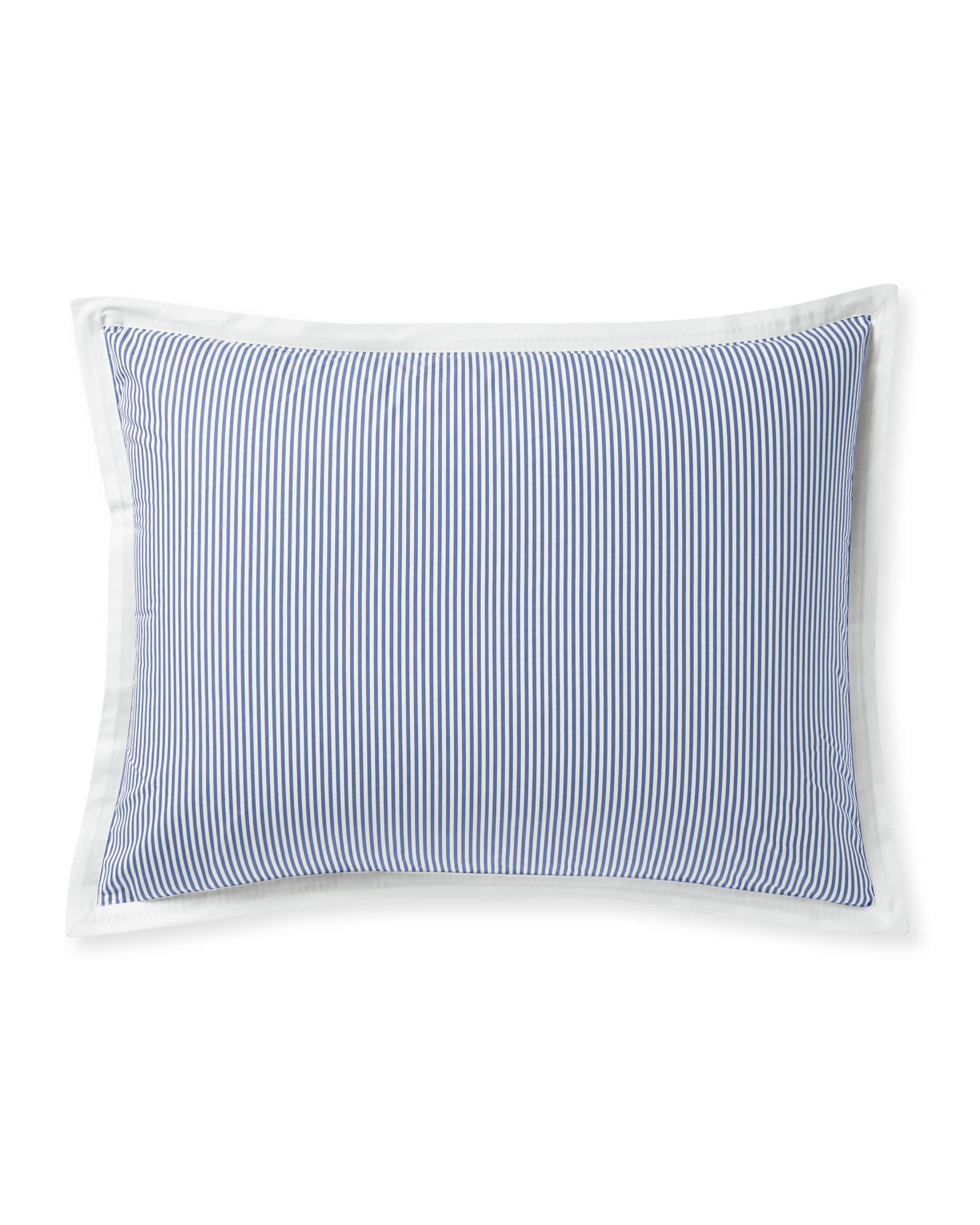 Oxford Stripe Shams, French Blue