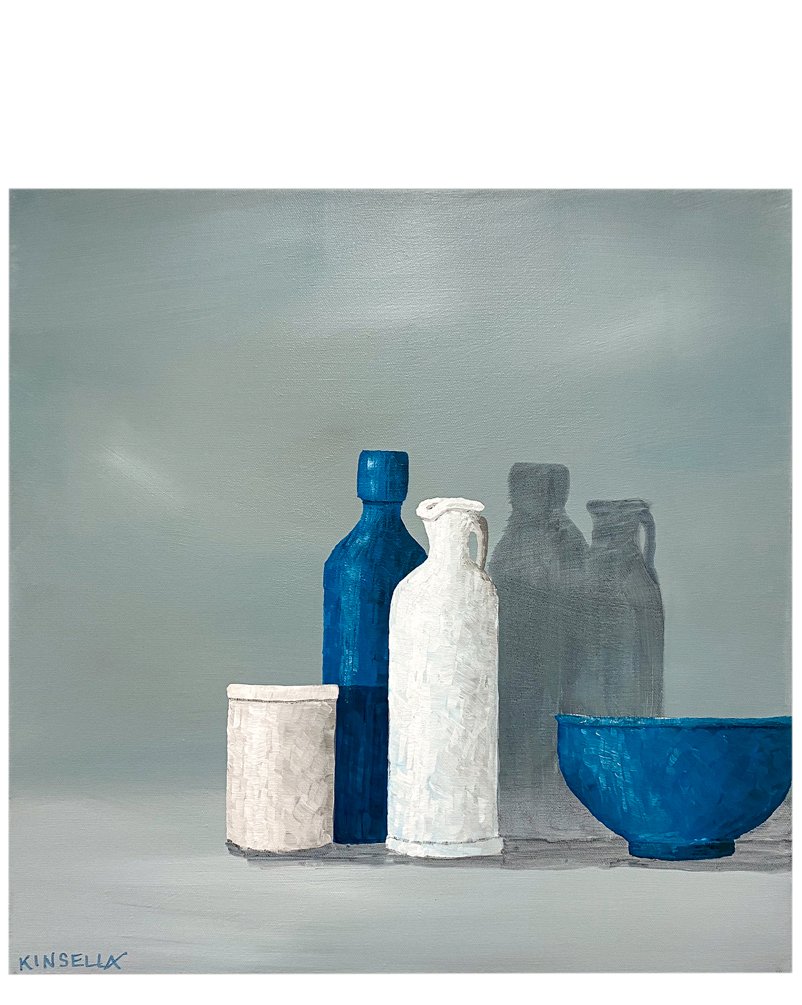 "Still Life with Blue Bottle"" by Susan Kinsella,"