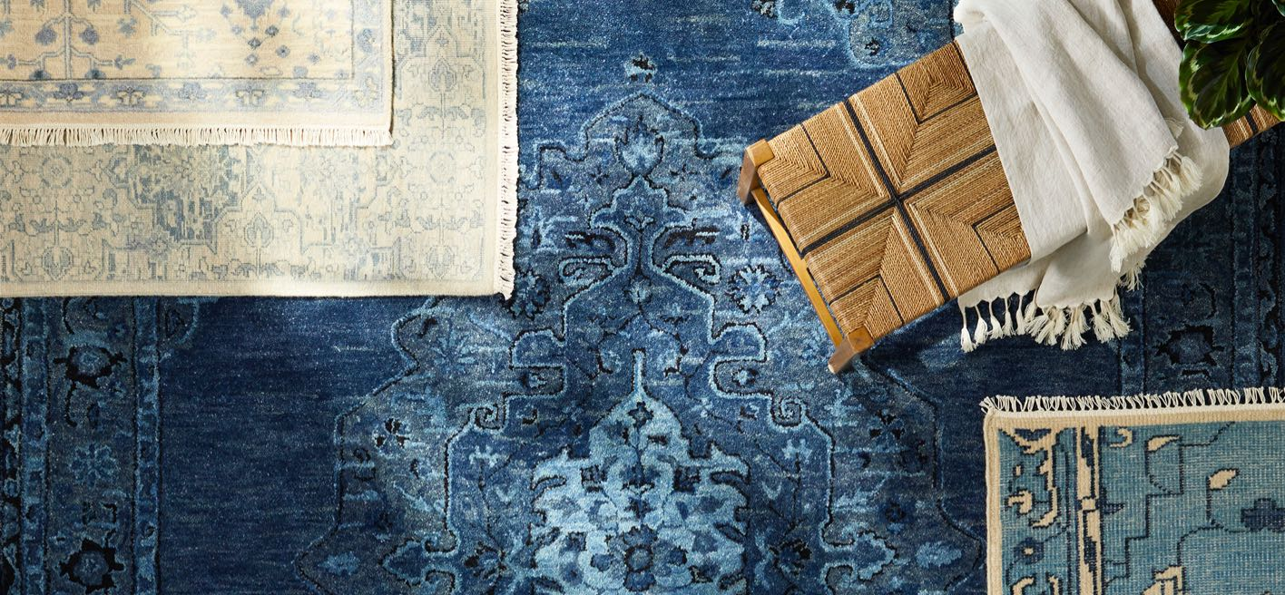 Blue rug laydown