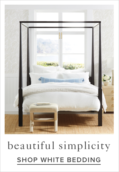 shop white bedding