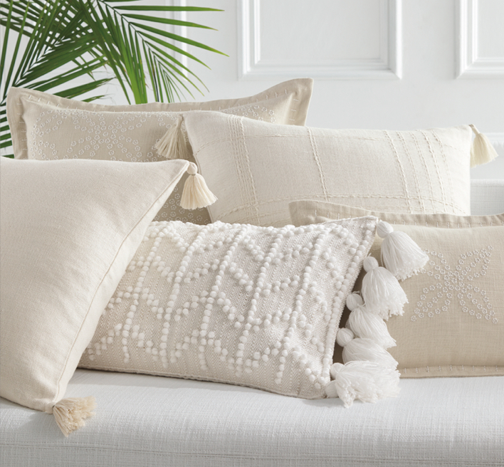 NEW PILLOWS & THROWS