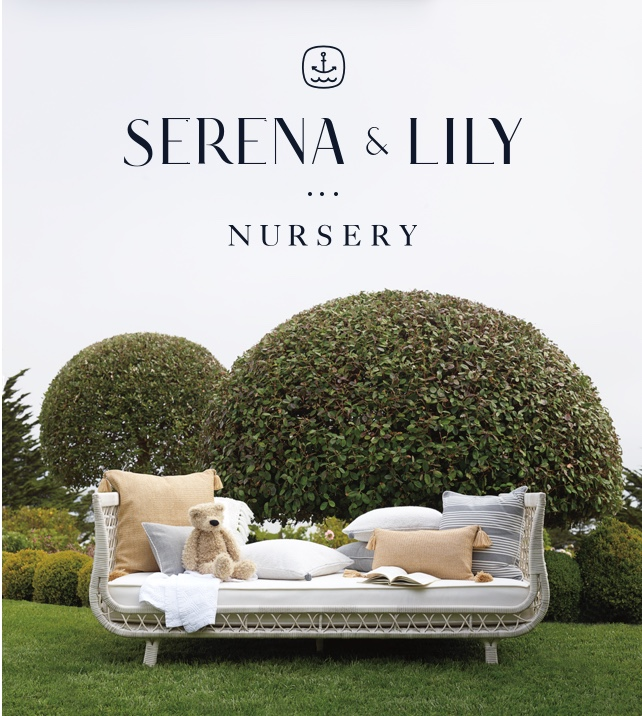Serena & Lily Nursery - image of Capistrano outdoor daybed with outdoor pillows