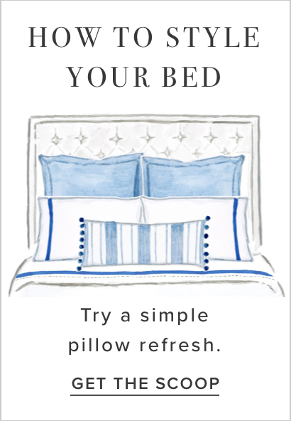 how to style your bed, try a pillow refresh